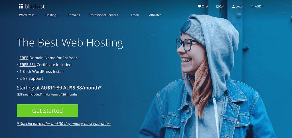 Bluehost offer web hosting in Australia