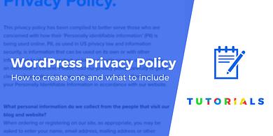 WordPress privacy policy