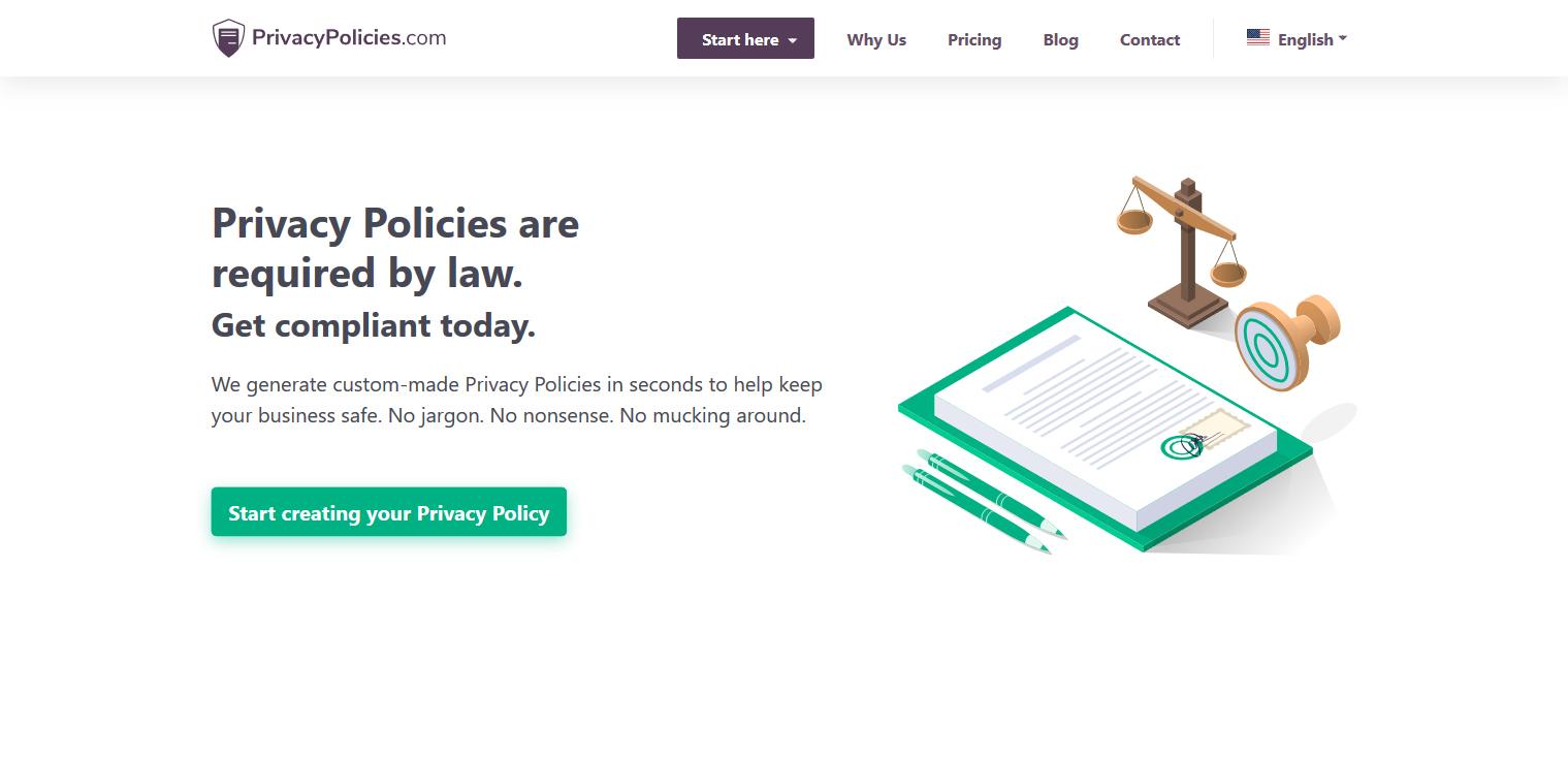 PrivacyPolicies privacy policy generator