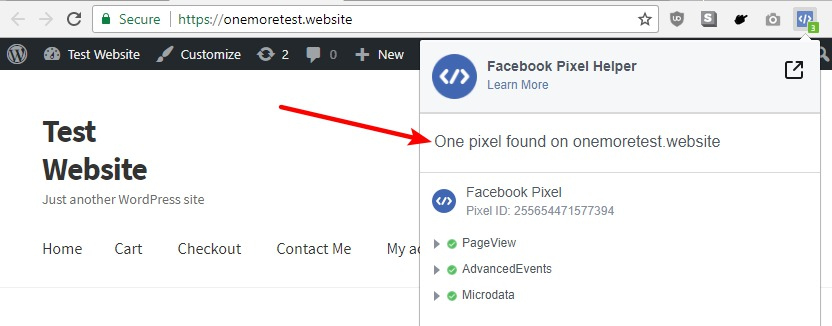 how to test facebook pixel