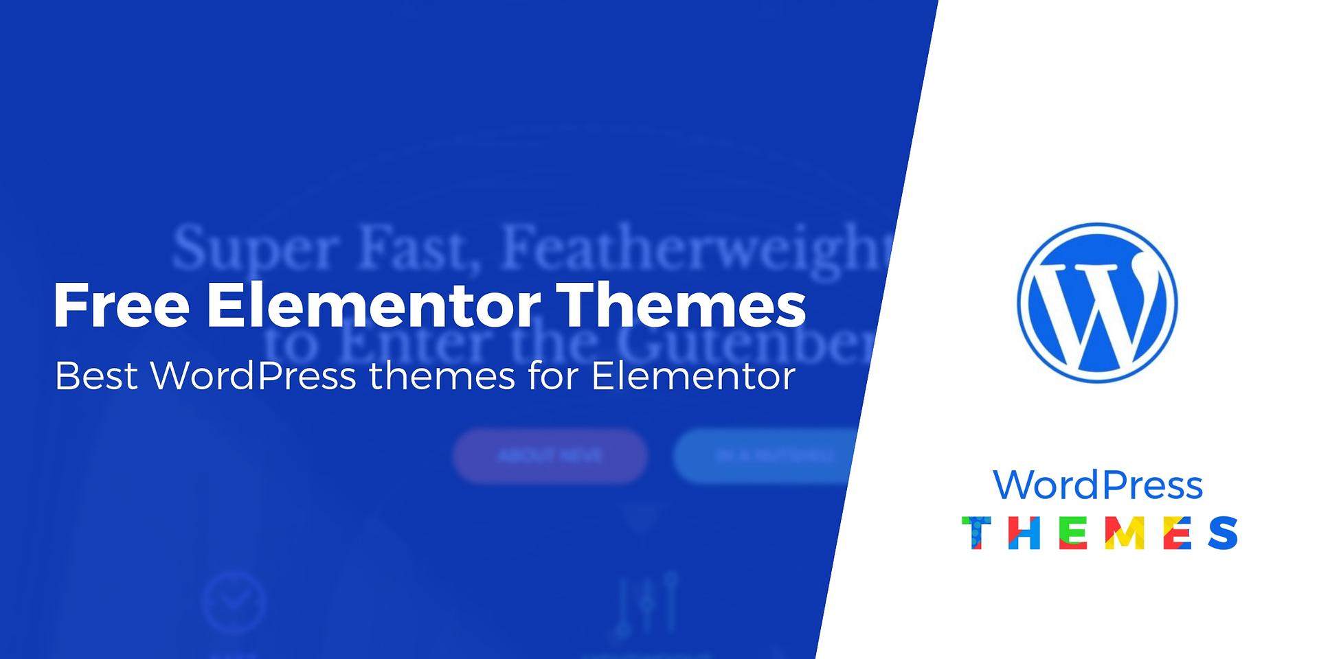 best free wordpress theme with elementor