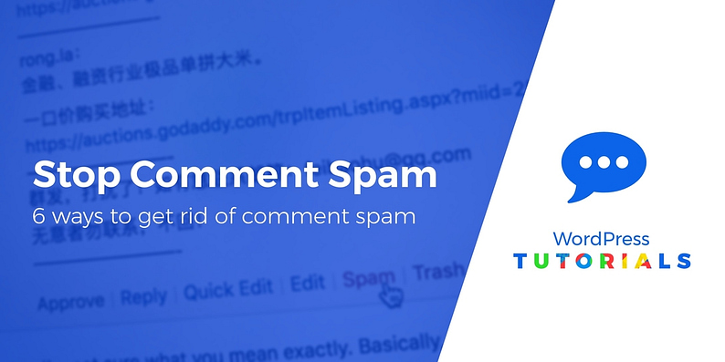stop comment spam on WordPress