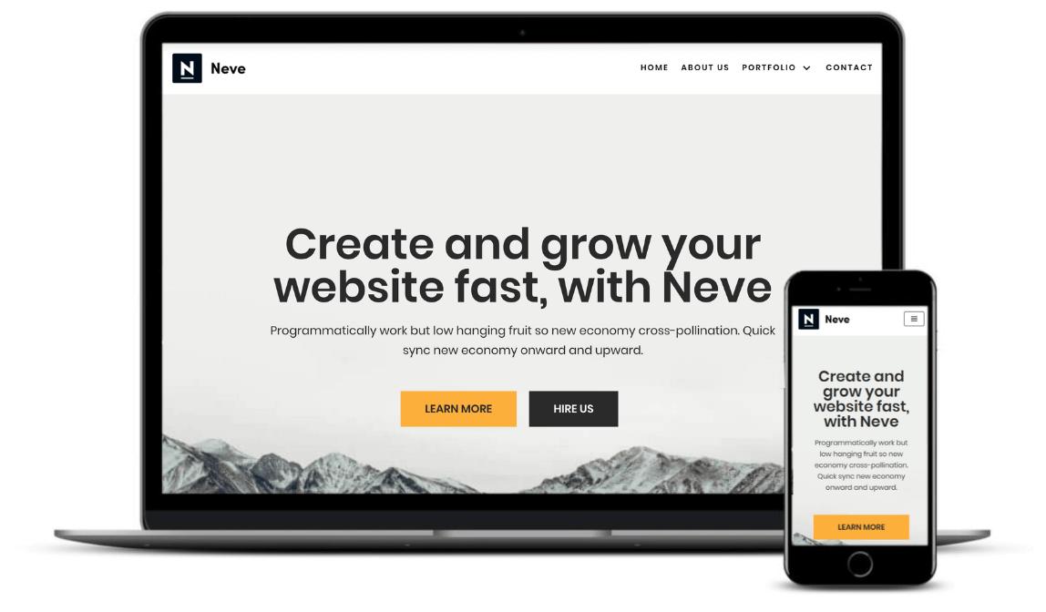 Best one-page WordPress themes: Neve web agency