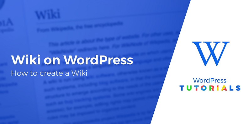 create a wiki on WordPress