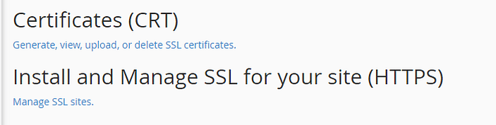 Managing your SSL certificates.
