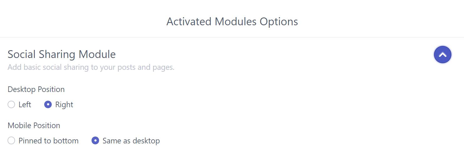Module Options