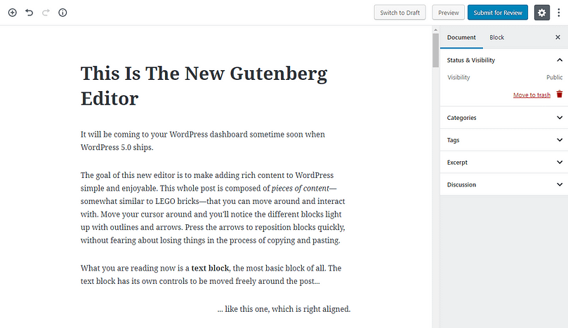 Gutenberg for newbies: the new editor in WordPress 5.0