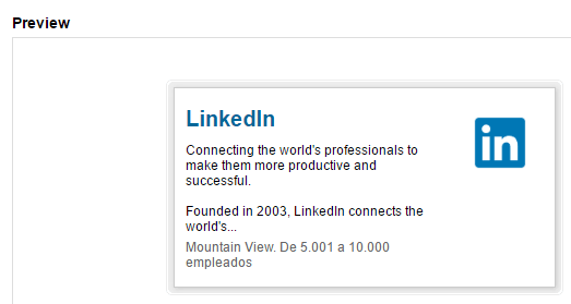 Displaying your LinkedIn profile on a different platform.