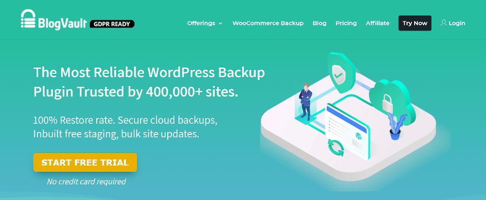 WordPress staging plugins: BlogVault