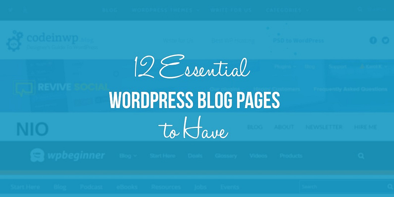 WordPress blog pages to have