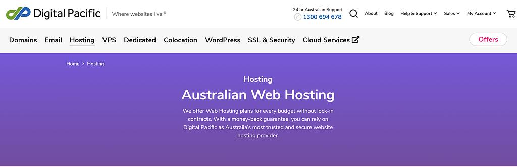 Best web hosting Australia: Digital Pacific