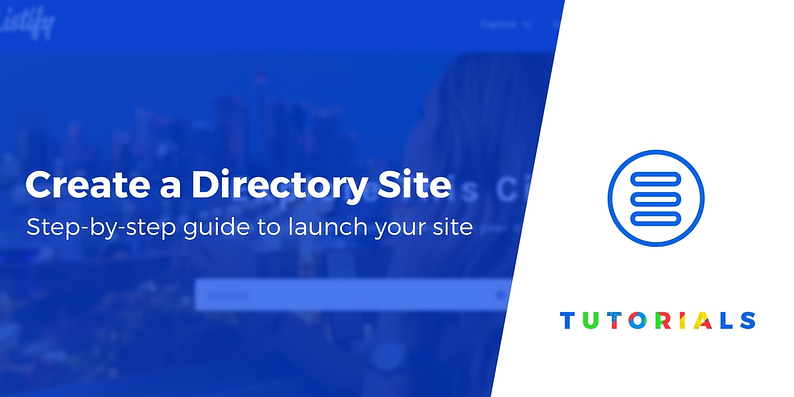 How to create a directory site