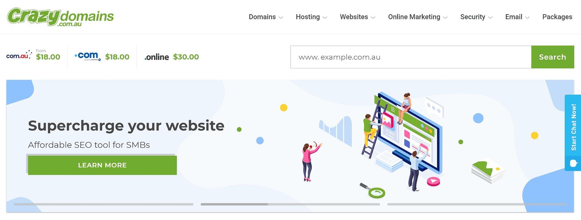 Best web hosting Australia: CrazyDomains