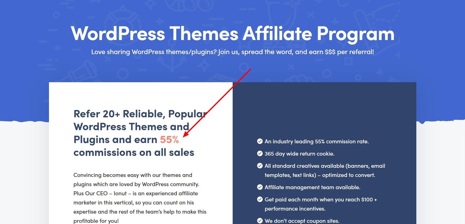 Themeisle affiliate program