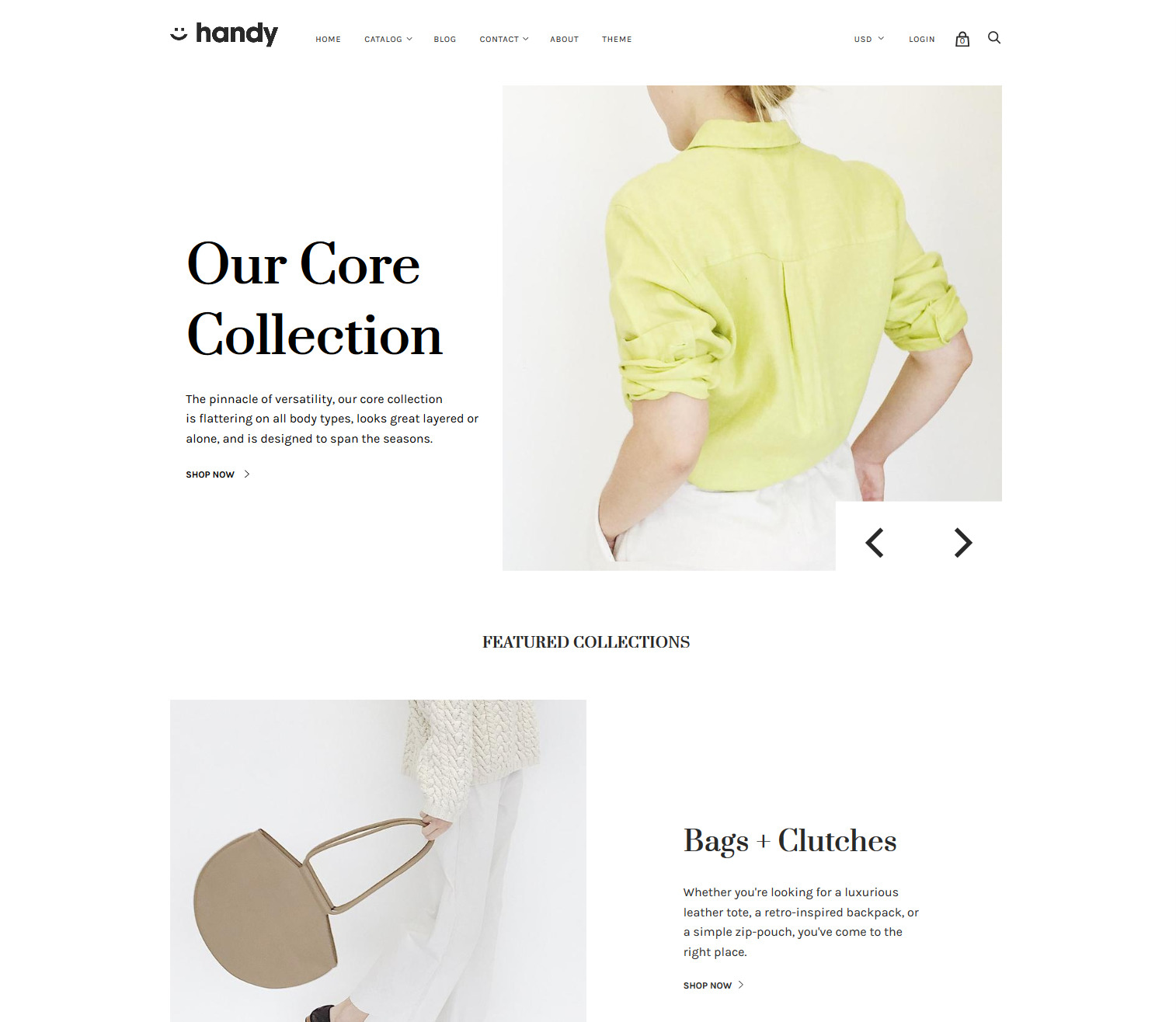 handy Shopify theme