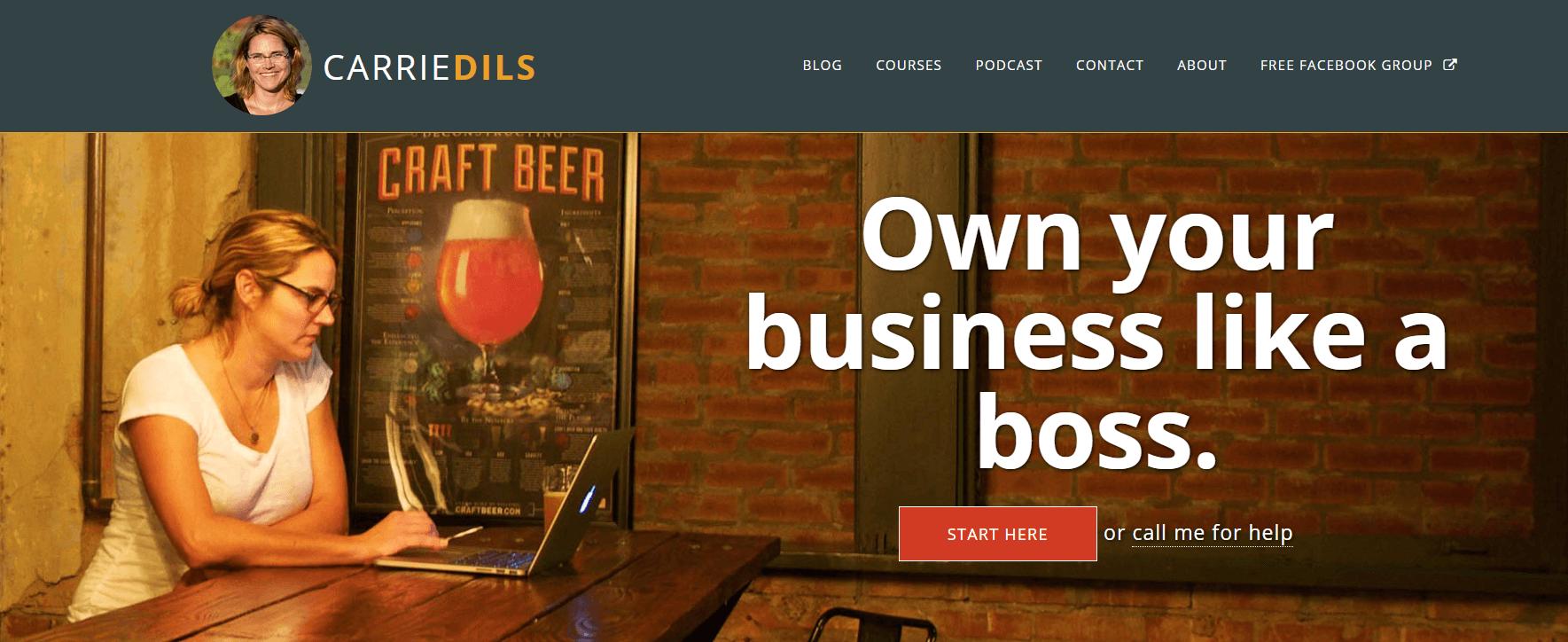 An example of a freelance WordPress website