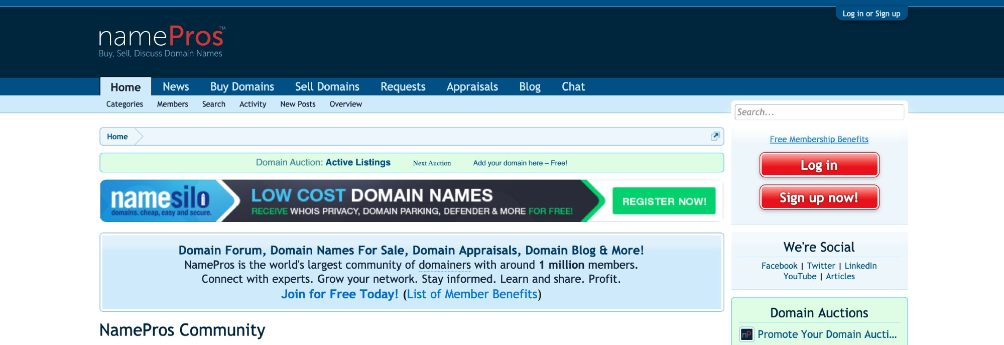 The NamePros website.