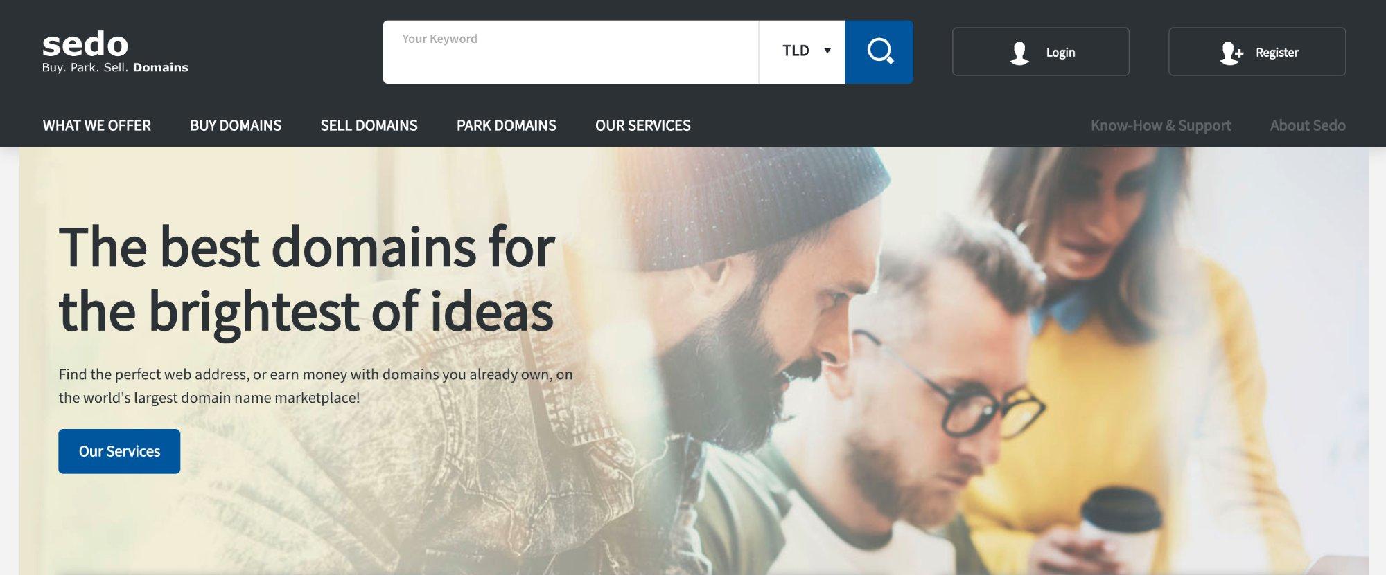 Sedo offer premium domain names for sale