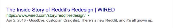 Wired meta description