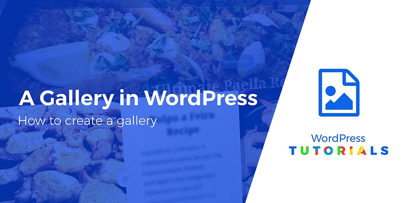 create a gallery in WordPress