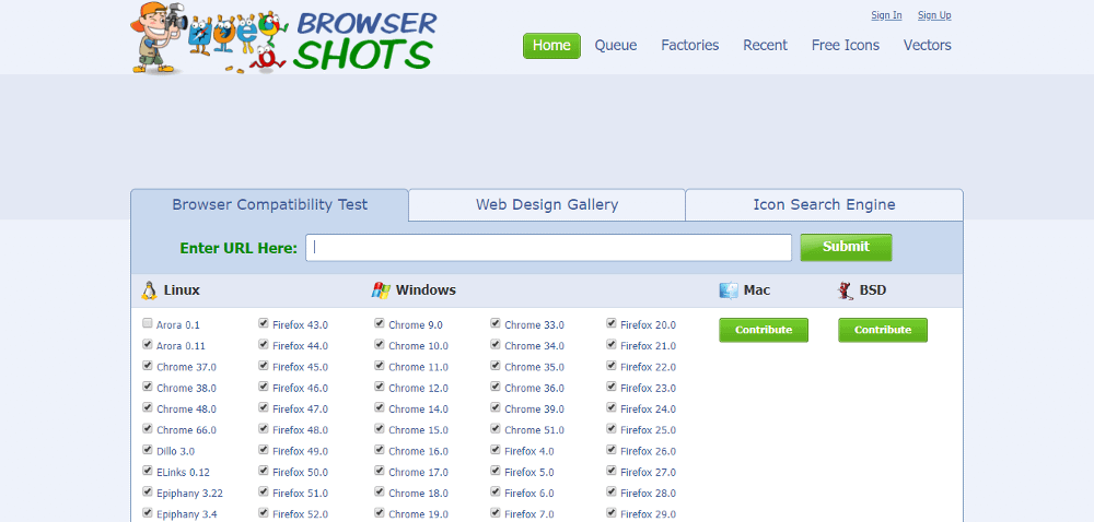 Browsershots can help you complete the website launch checklist