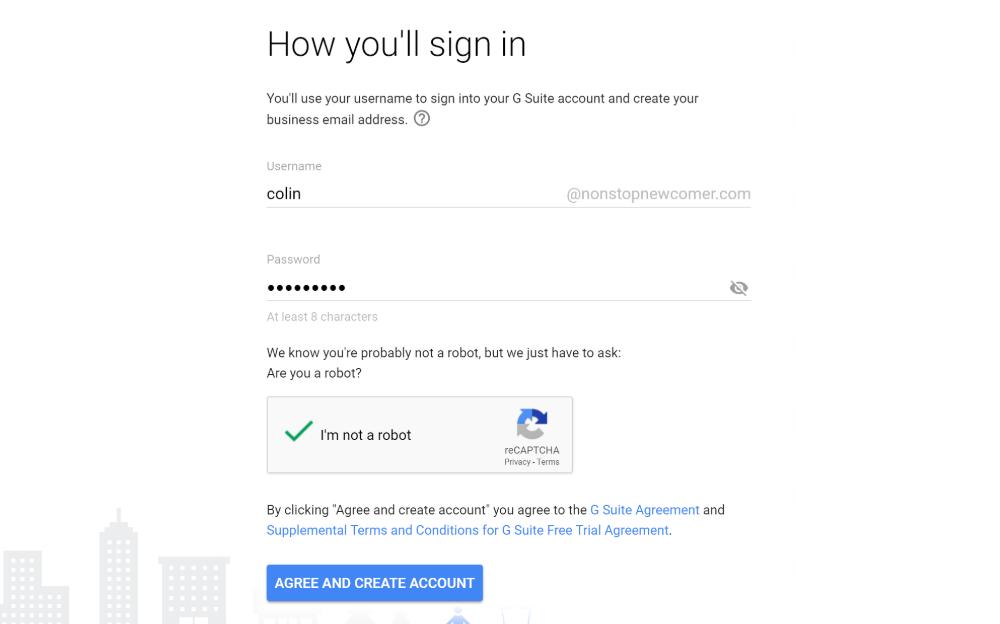 Choose Google Workspace (G Suite) usernname