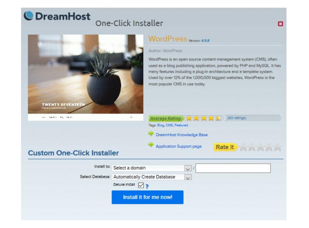 Instalación de DreamHost