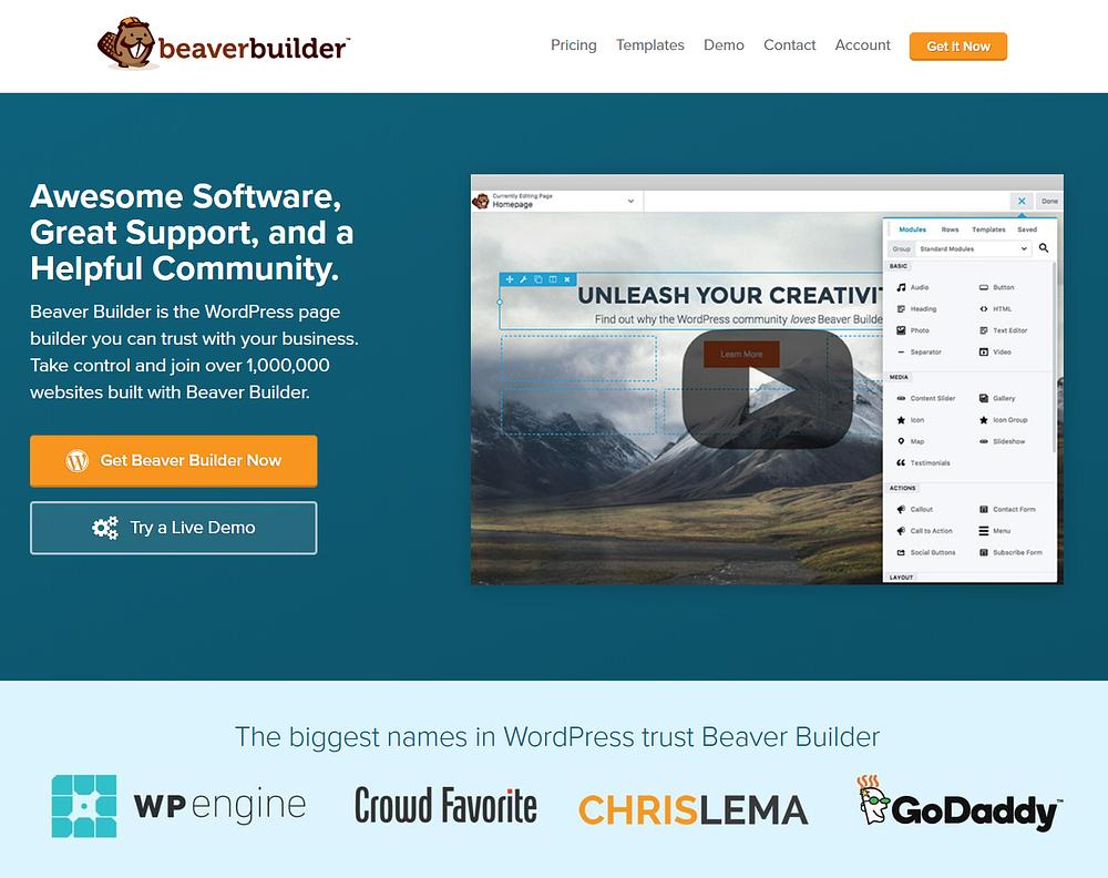 WordPress page builders: Beaver Builder
