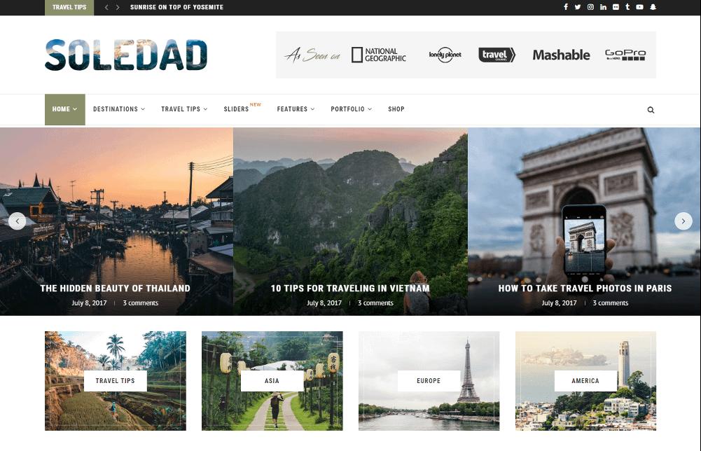 Tema de Soledad WordPress