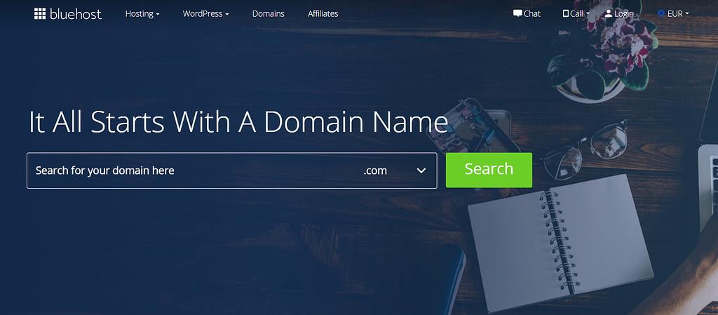 An example of a domain registrar