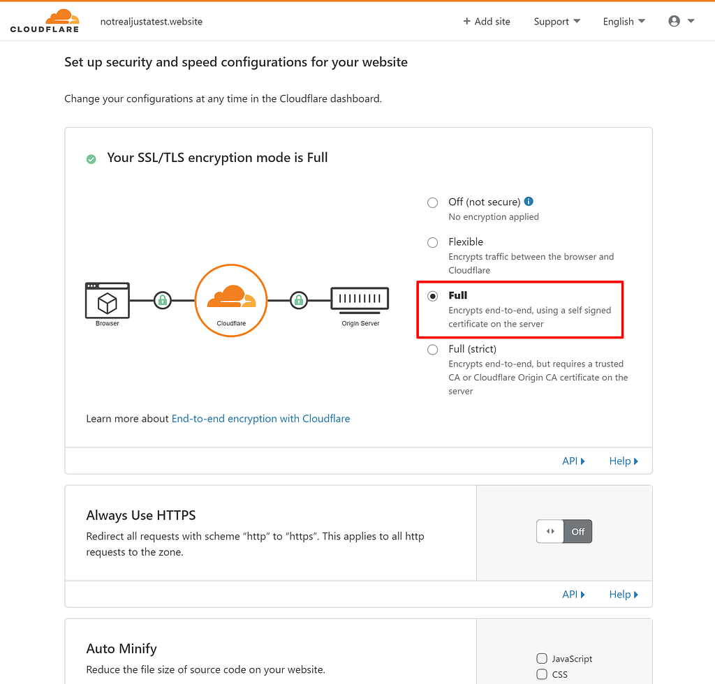 Configure Cloudflare SSL for WordPress