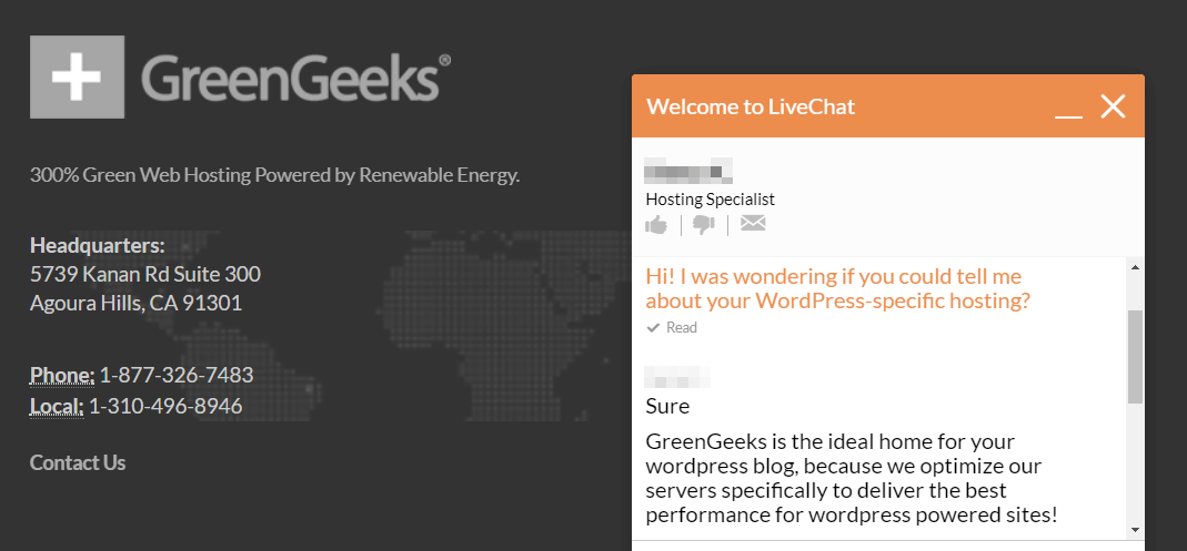 support is a consideration in our greengeeks review for wordpress
