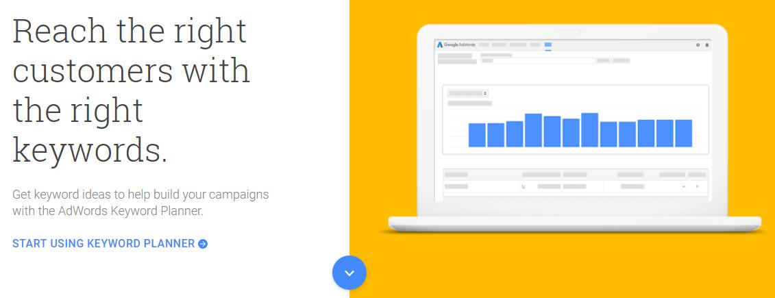 El planificador de palabras clave de Google.
