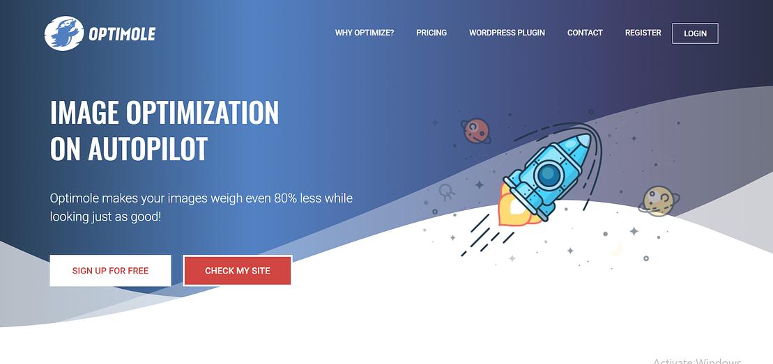 Optimole Image Optimization in WordPress