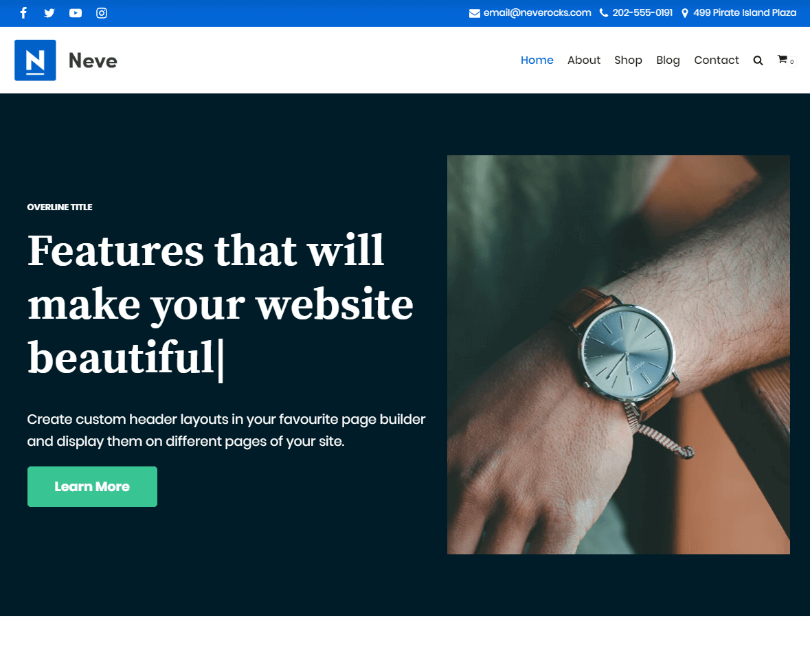 Neve is one of the best free WordPress blog themes