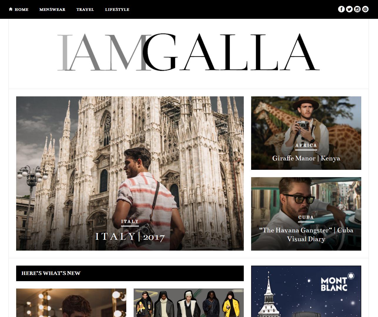 I Am Galla tiene el formato de categoría de blog de estilo de vida perfecto