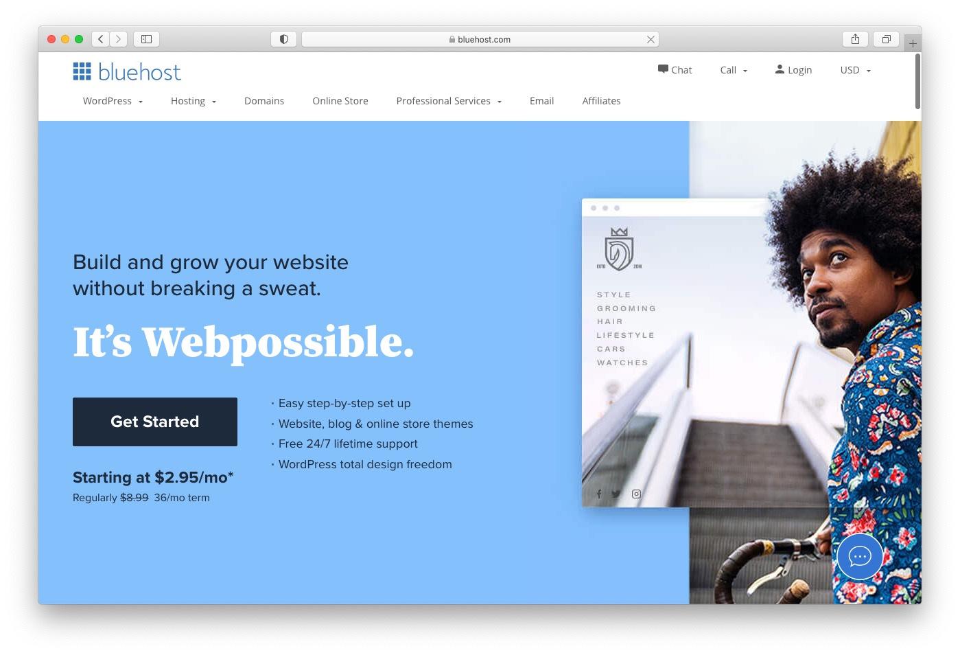 Best web hosting services: Bluehost