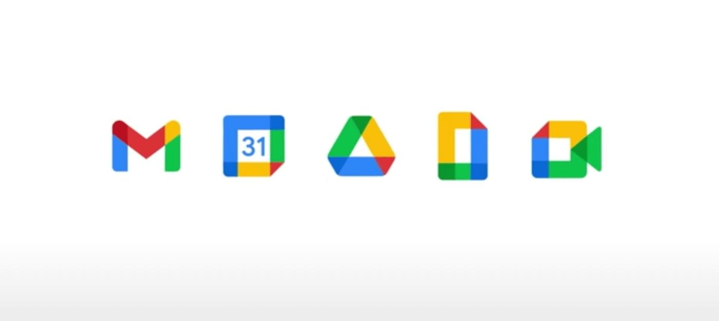 Los nuevos logotipos de Google Workspace.