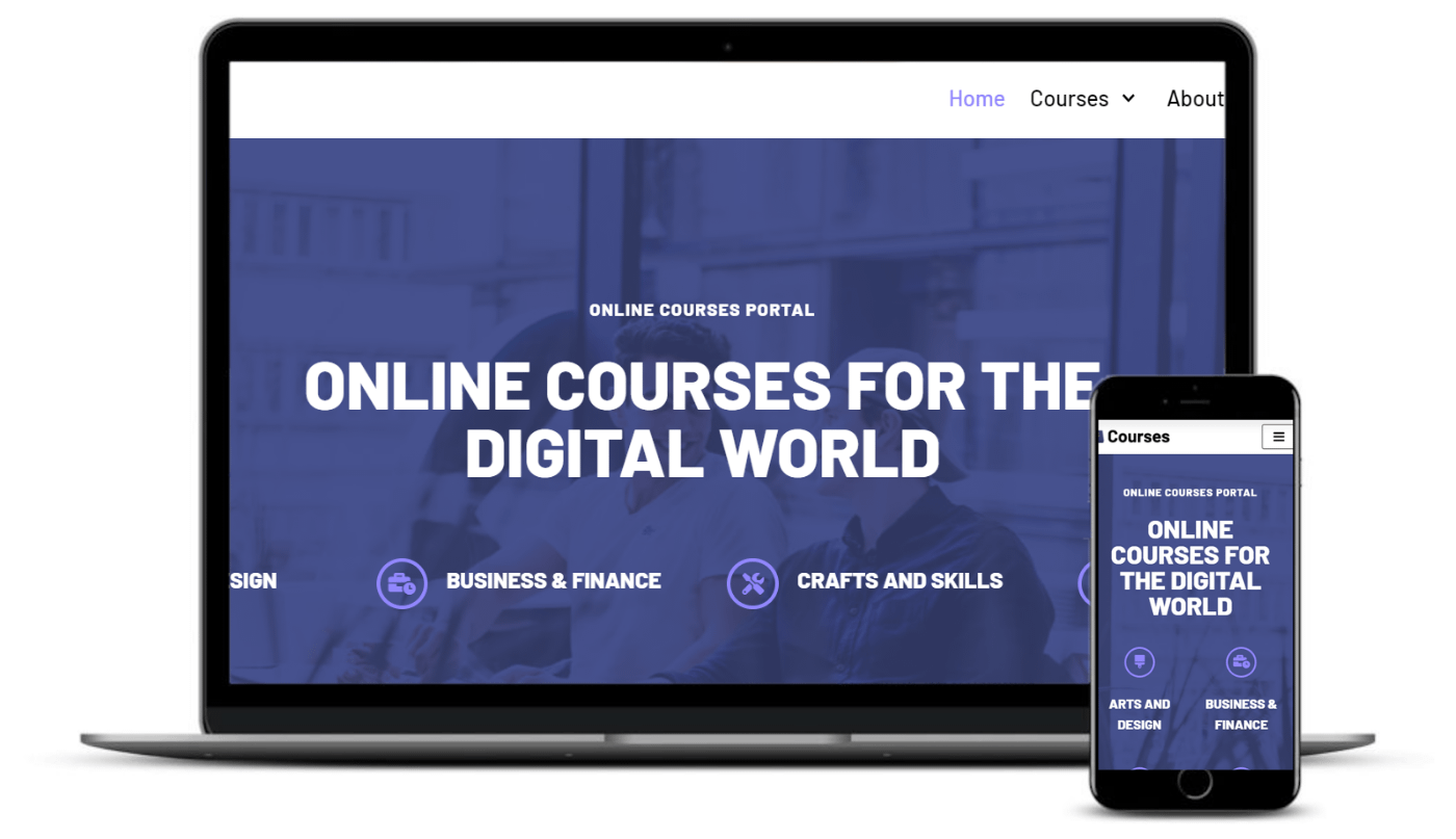 Neve Online Courses is an eLearning WordPress theme.