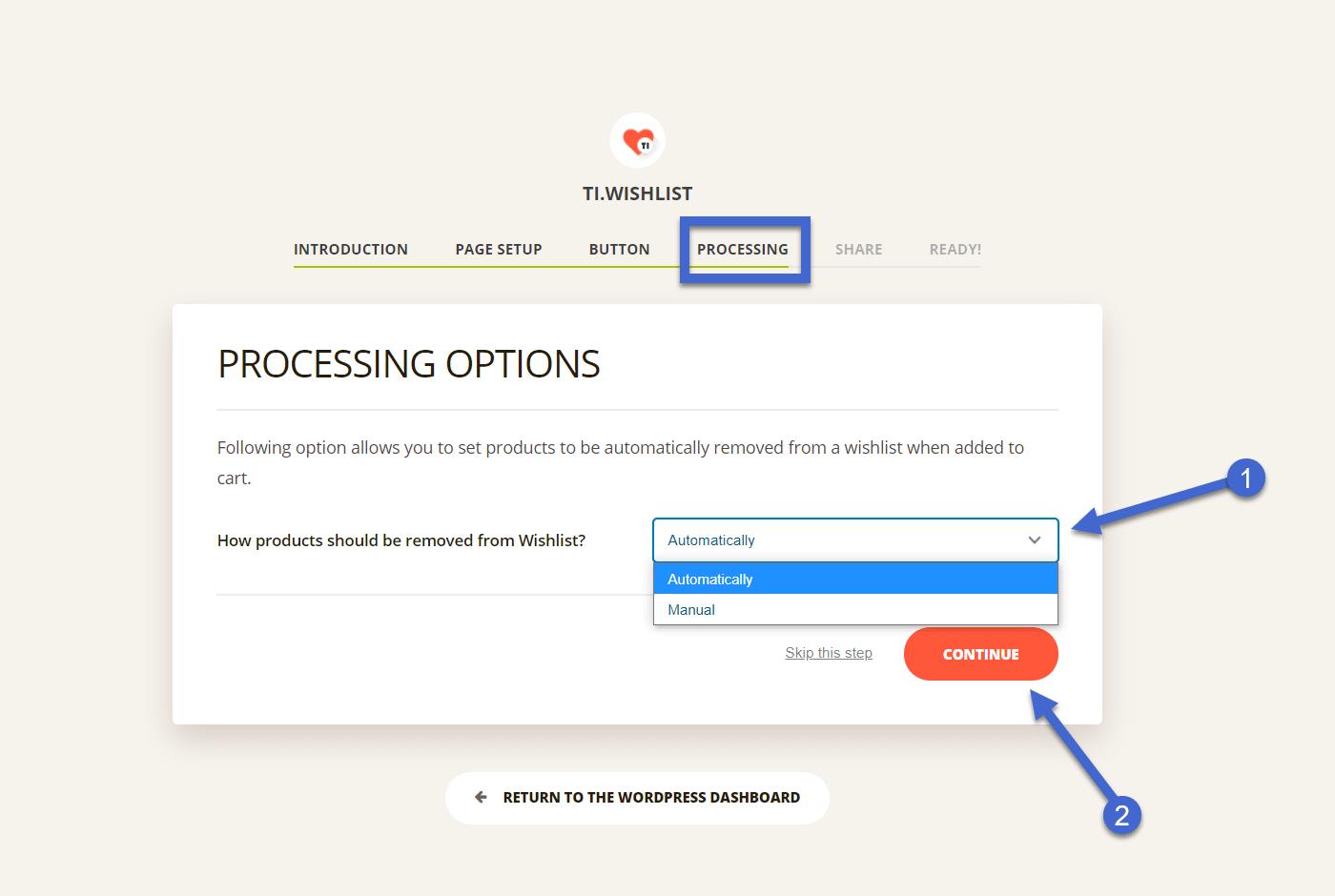remoção automática - lista de desejos woocommerce