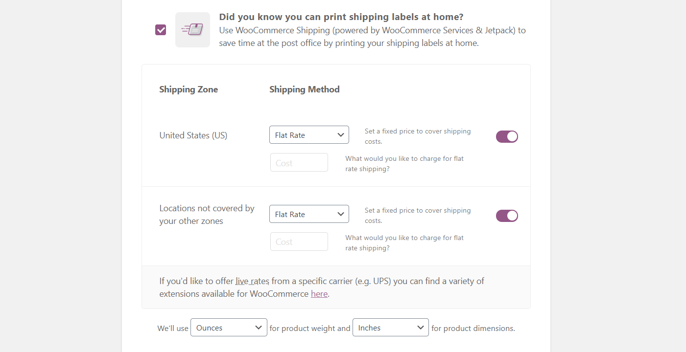 How to set up shipping for a WooCommerce store