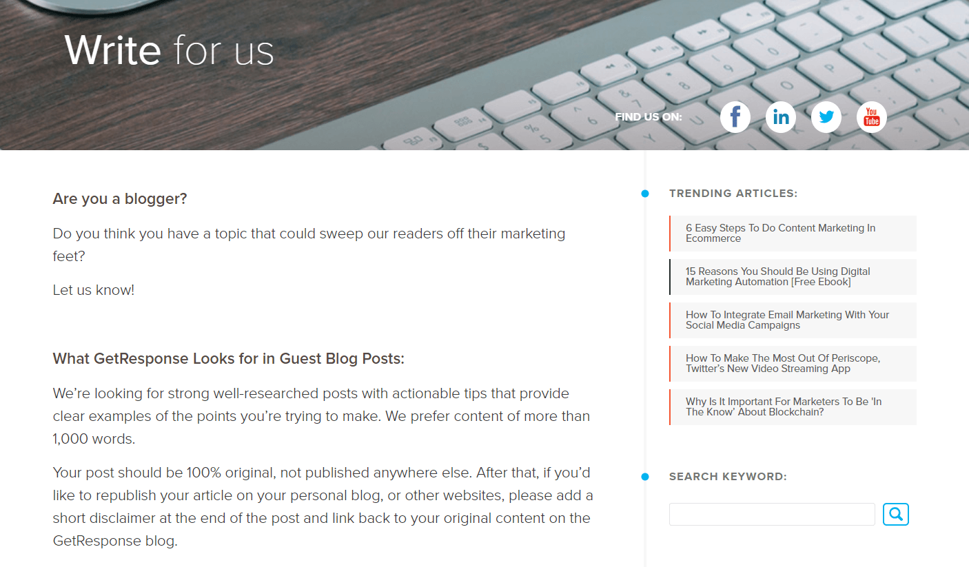 Finding a target is step 2 in our guest blogging guide