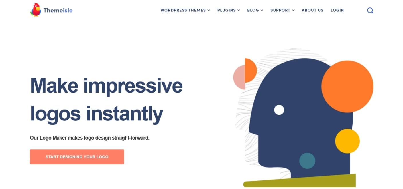 Criador de logotipo de negócios com tema