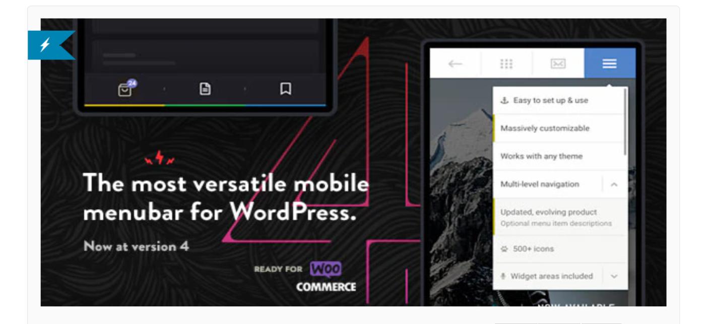 O plugin Touchy é um dos nossos plugins móveis selecionados para WordPress.