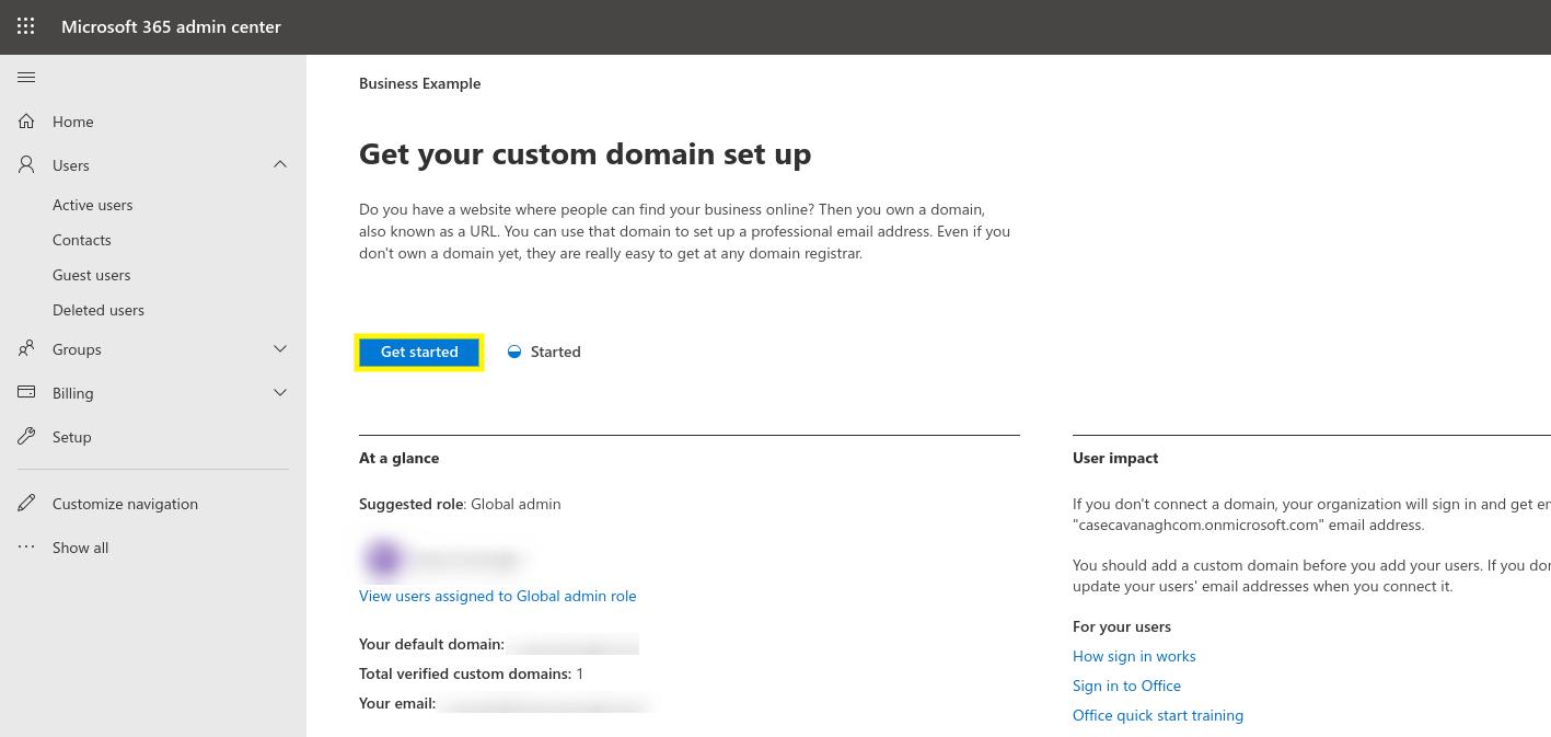Configurar un dominio personalizado con Microsoft 365