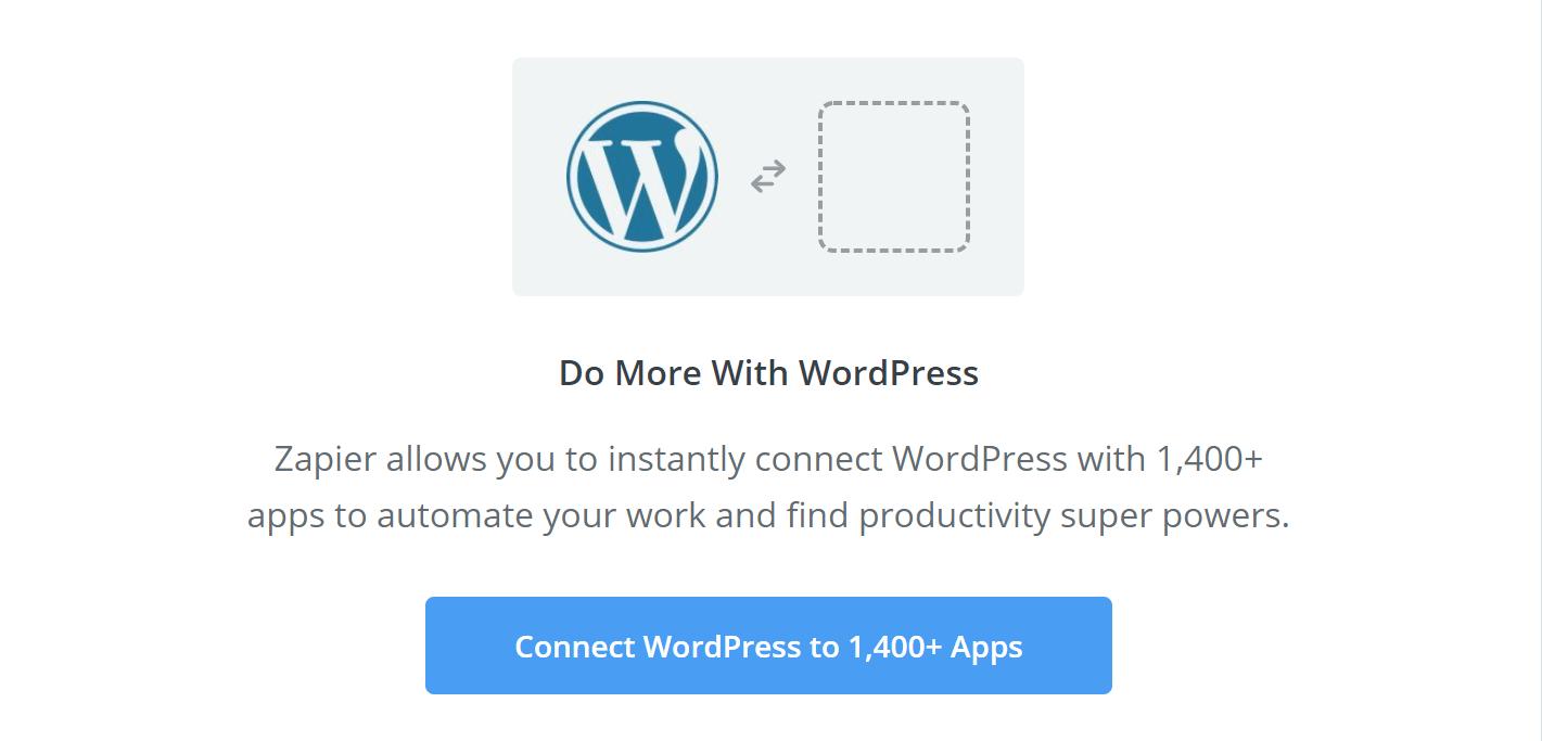 WordPress Zapier recipes