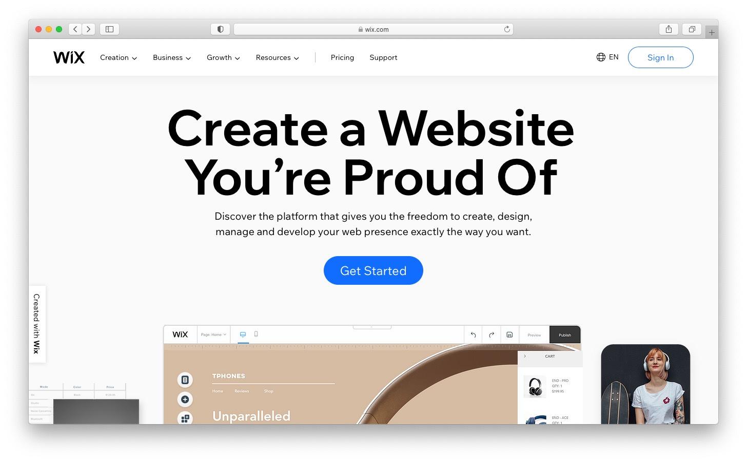 Best free blog sites: Wix