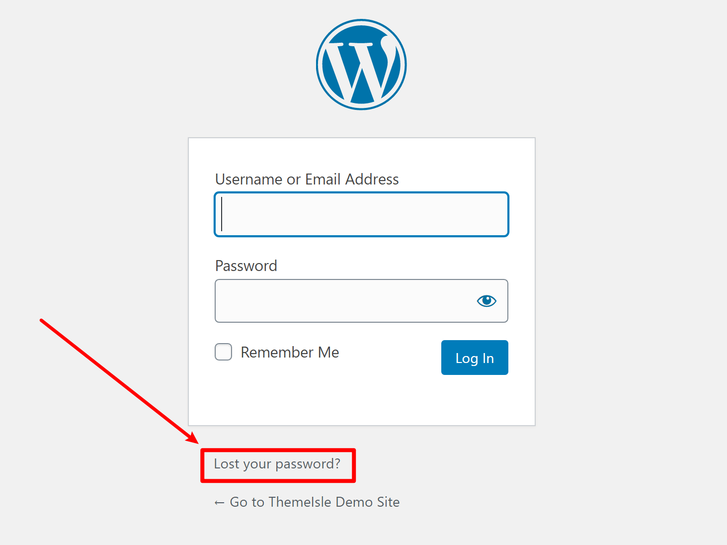 How to use the WordPress password reset feature to change password
