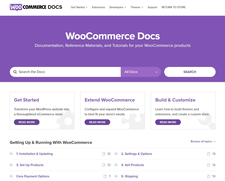 Documentação WooCommerce