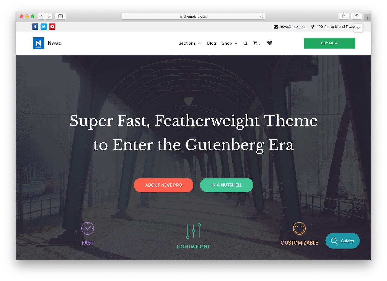 neve - a theme for news aggregator websites